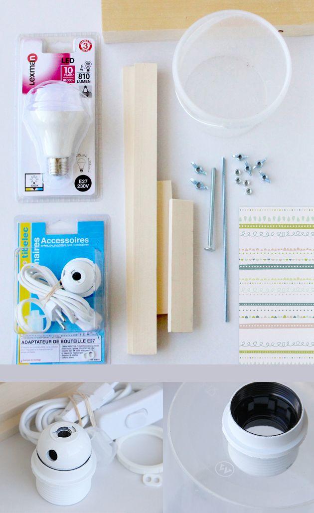 les 25 meilleures id es de la cat gorie fabriquer une lampe sur pinterest une lampe clairage. Black Bedroom Furniture Sets. Home Design Ideas