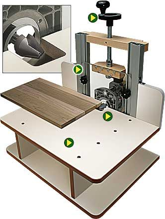 Wooden Horizontal Router Table Plans DIY blueprints Horizontal router table…