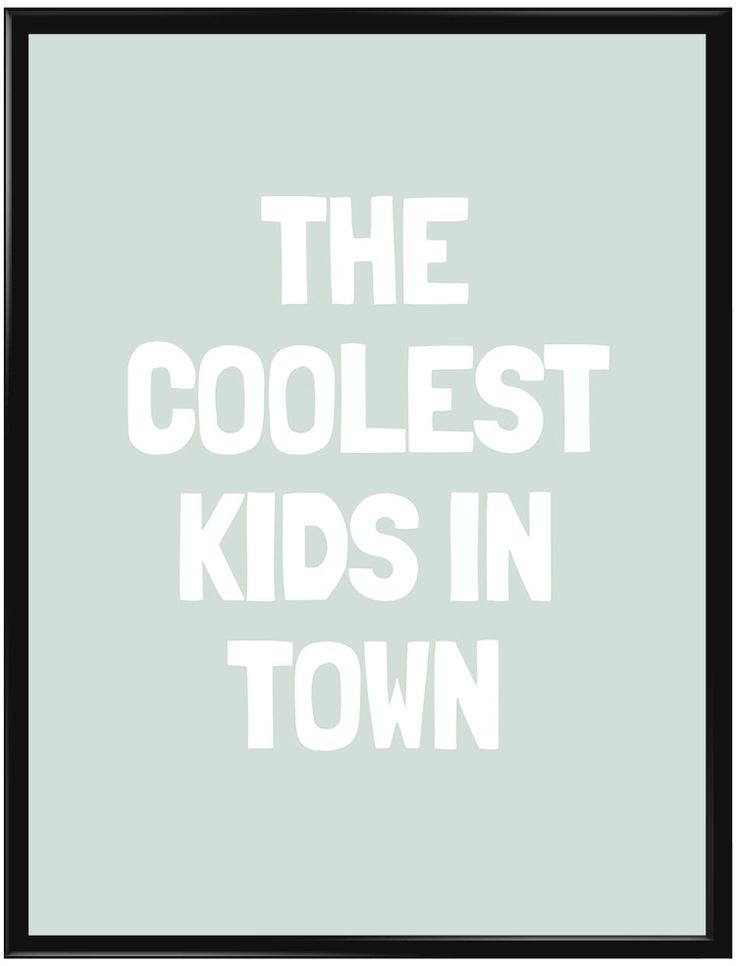 Handla din egen Coolest Kids (Grön) poster från Galerie här. Vi levererar alltid…
