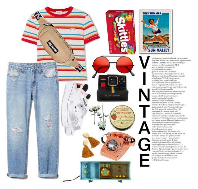 """retro or vintage (?)"" by jihan-heryawan on Polyvore featuring RE/DONE, Puma, Motorola, Polaroid, Madewell, vintage, men's fashion and menswear"
