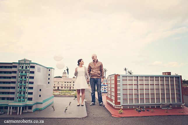Cameron & Louise's Engagement Shoot in Mini Town Durban. How funky! Carmen Roberts Photography