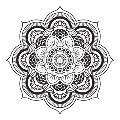 Floral Mandala. Round Ornament Pattern