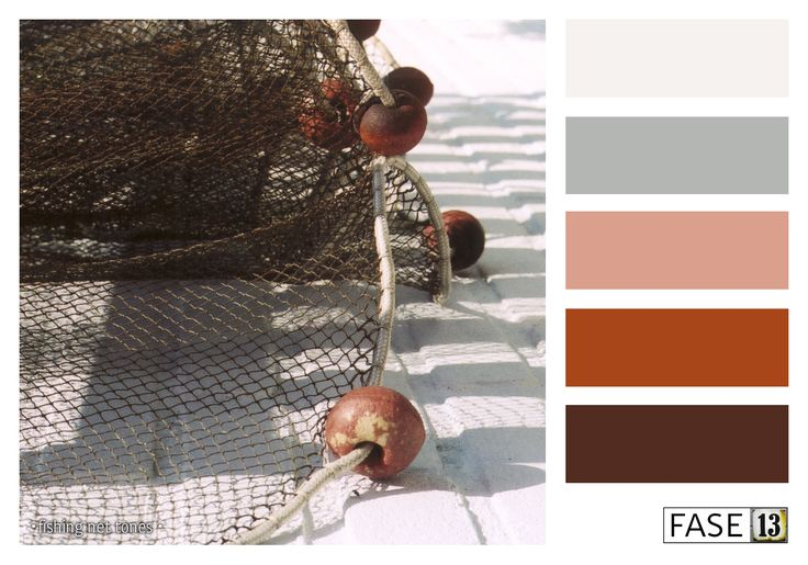 #kleurinspiratie #colourinspiration by #FASE13 ~ Fishing net tones #red