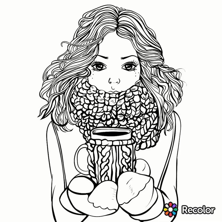12 Best Recolor Drawings I Color Images On Pinterest Illustrations Coloring Pages Recolor