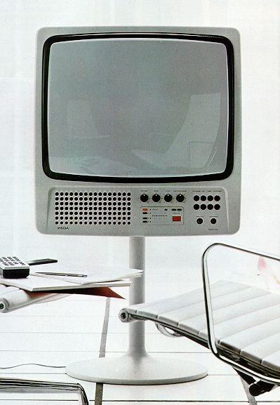 Hartmut Esslinger; #3062 Color Television Set for Wega, 1971.