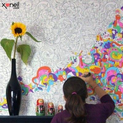 Papel de parede para pintar!