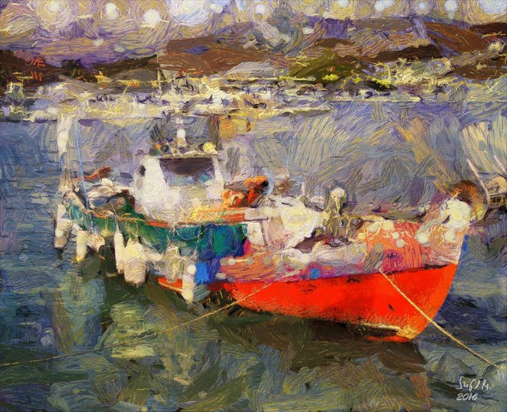 Check out Greek fishing boat by Szigeti Miklos at eagalart.com