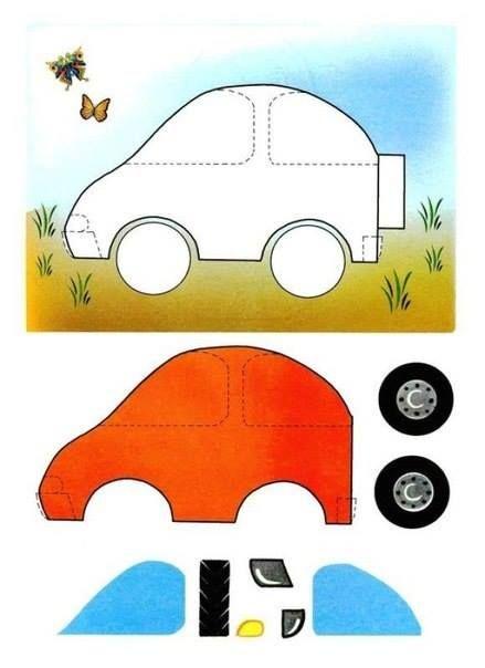 шаблон для аппликации мозаки автомобиль 8