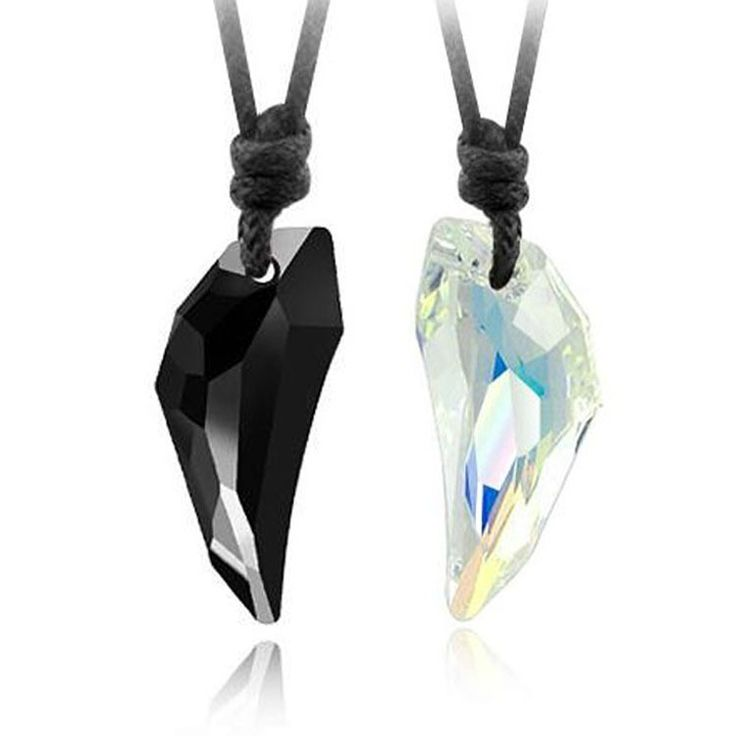 Spike Crystal Couple Necklace - 9-9-necklaces