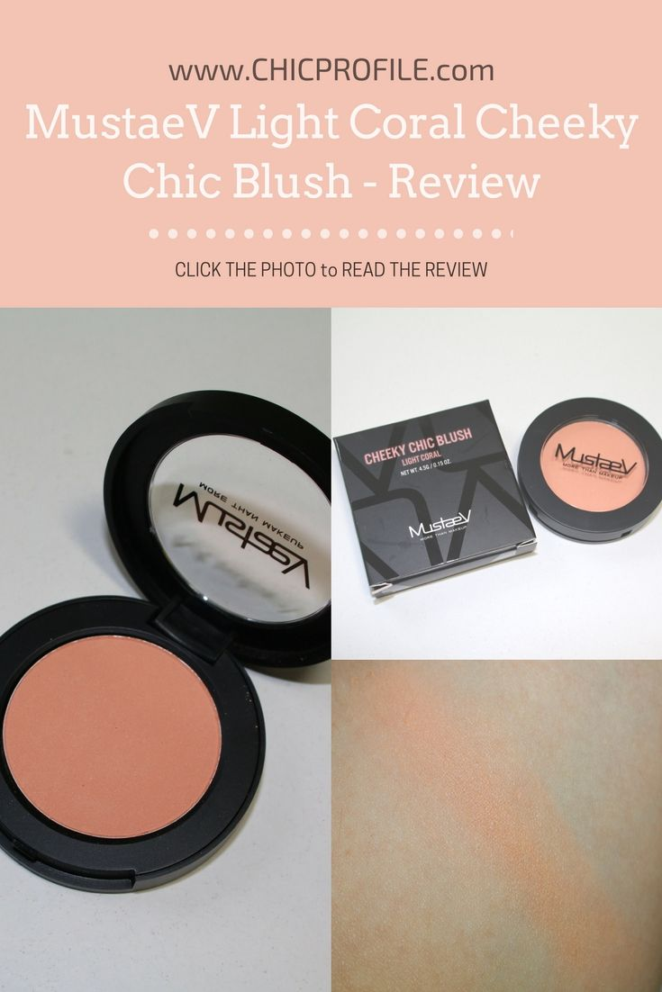 Light Coral Cheeky Chic Blush (4.5 g / 0.15 oz for $20.00) is a new and permanent shade joining the other two shades in: Floral Glow (review) and Odd Pink (review). Light Coral is a very light, luminous peachy-coral with warm undertones and a soft matte finish. CLICK THE PHOTO to read the REVIEW! via @Chicprofile