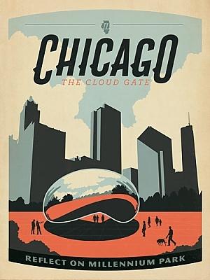 chicago vintage poster