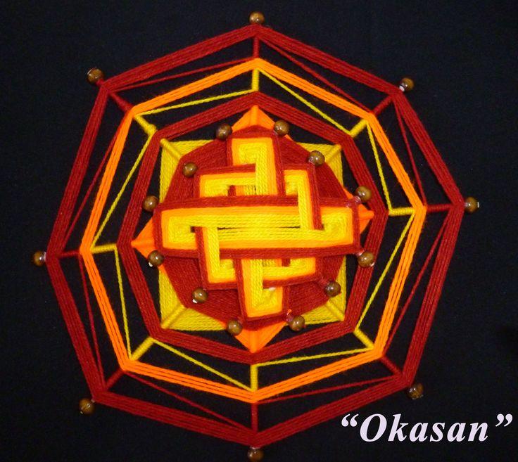 Mandalas Tejidos Okasan 8 puntas. Conoce nuestros Mandalas y Talleres en la Web www.okasan.cl