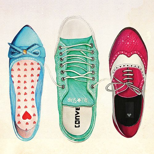 I like the vibrant colors chosen for each shoe. I also like how each shoe is a completely different style.