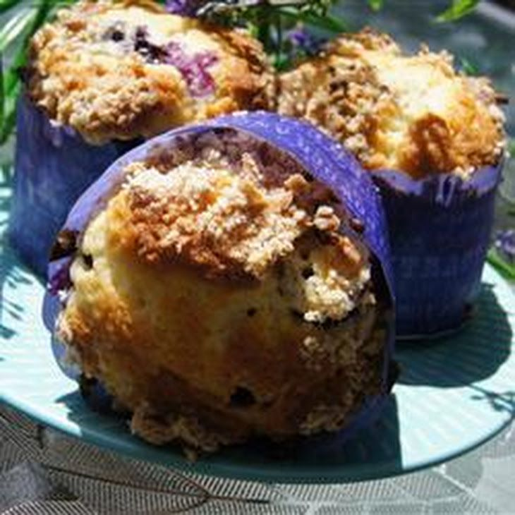 Paleo Mango Blueberry Muffins With Coconut Streusel