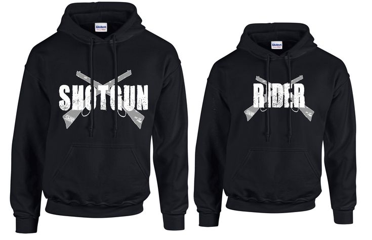 Southern Sisters Designs - Shotgun and Rider Couples Hoodies Set, $39.95 (http://www.southernsistersdesigns.com/shotgun-and-rider-couples-hoodies-set/)