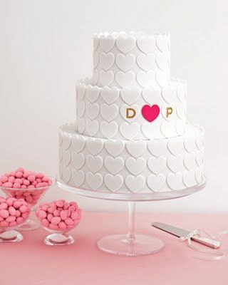 Heart Fondant Wedding Cake