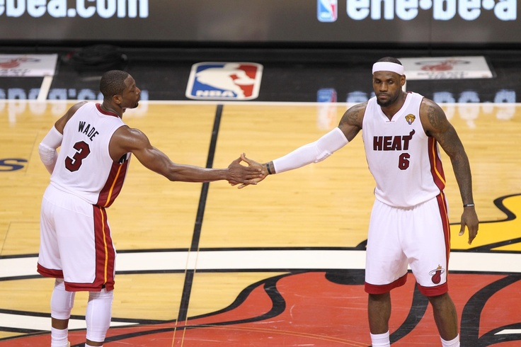 Lebron James and Dwyane Wade, Miami Heat