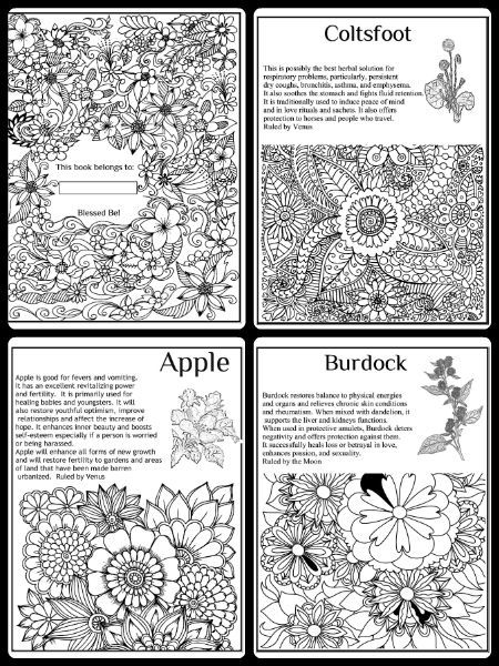 Pagan Symbols Free Pagan Coloring Pages Wicca Book of