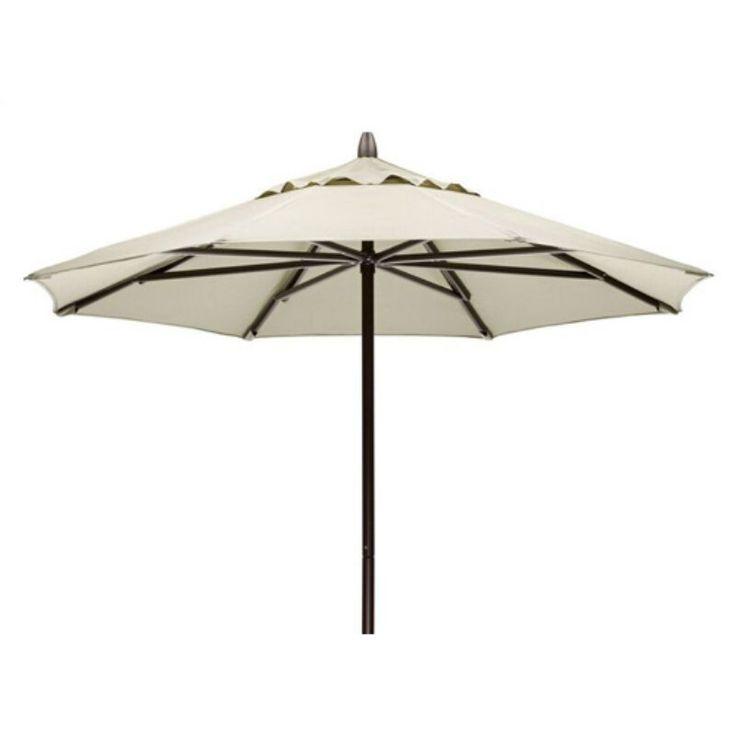 Telescope Casual 7.5 ft. Sunbrella Powder Coated Aluminum Round Commercial Umbrella Chestnut - 67A80A01