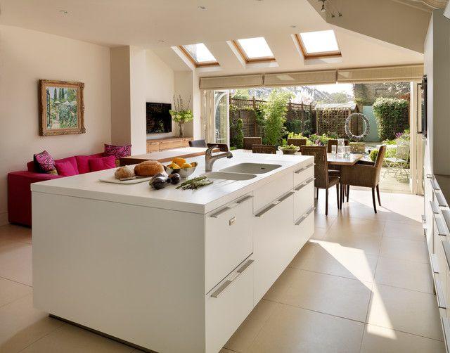 Velux Skylight Sizes Kitchen Contemporary with B3 Beige Tile Beige Wall Bulthaup Folding Windows Gaggenau