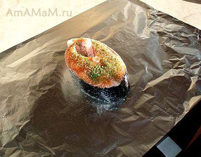 AmAMaM.ru - Лосось запеченный в фольге (сочный)