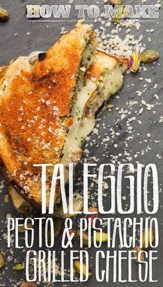 Taleggio & Pesto Griller Cheese: Like Your Kraft Favorite, But Grown Up