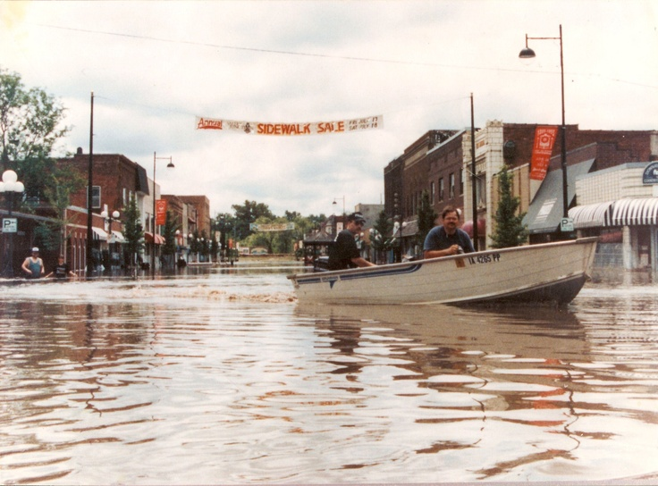 5th Street Flood Of 1993 Historic Valley Junction