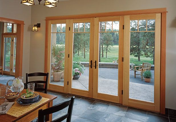 love these patio doors but in a darker stain.....