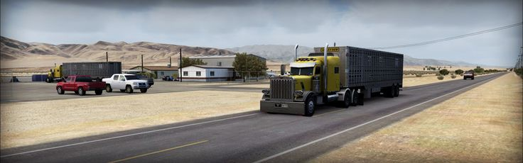 Twentynine Palms KNTP - 29Palms - review (6*) • C-Aviation #FSX #Review #29Palms #KTNP #USA #California #trucks #traffic