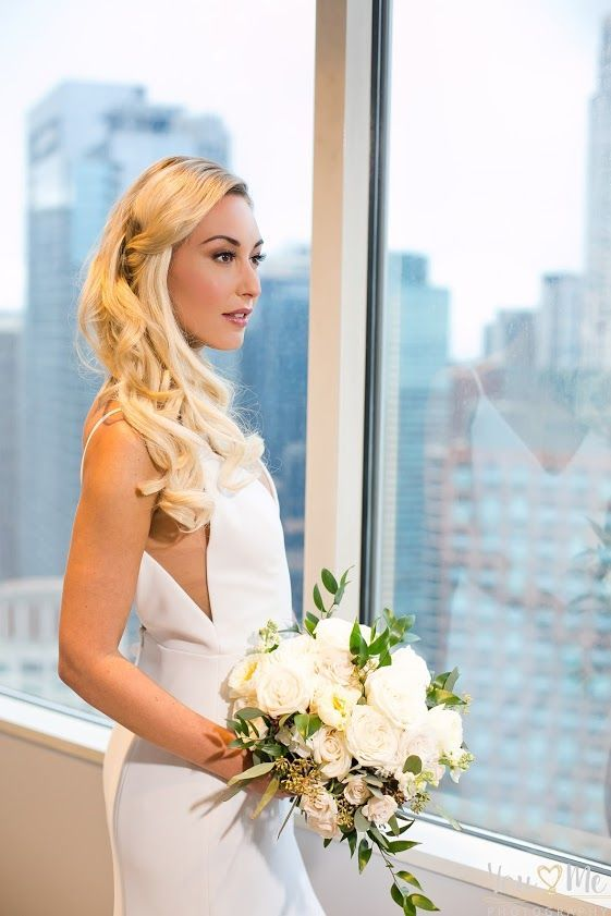 chicago wedding at swissotel glamorous and chic winter wedding hair and makeup by bridal