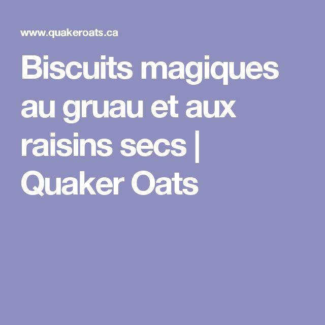 Biscuits magiques au gruau et aux raisins secs | Quaker Oats