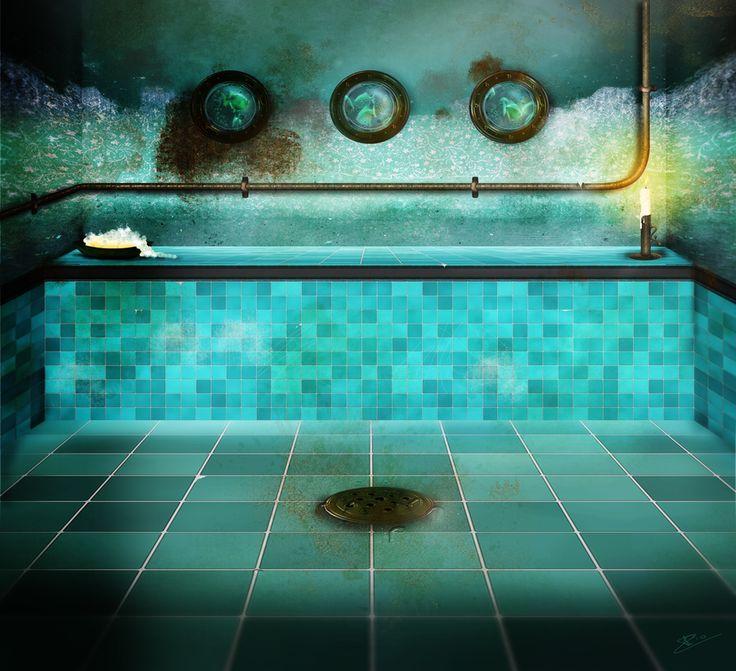 steampunk bathroom by ikink on deviantart