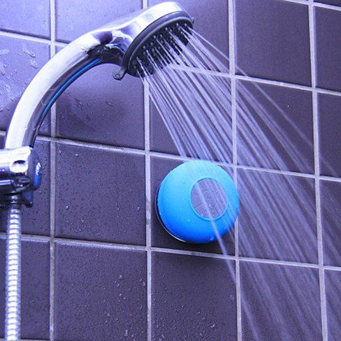 Give your morning routine of singing in the shower a proper soundtrack with a Bluetooth shower speaker in yellow, pink, green, or blue. This small speaker features a removable suction cup backing that grips to most flat surfaces. Song selection, volume, and calls can be controlled with the front push buttons. Going to the beach or a pool party? Be sure to tote along this splash-resistant speaker.