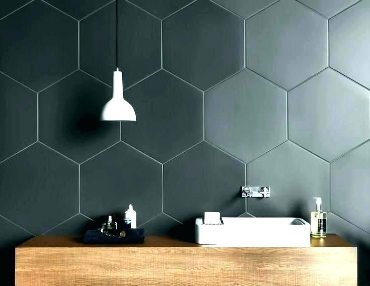 Big Hexagonal Mosaic Combines The Simplicity Of A Glossy Plain Surface With The Modern Hexagona Hexagon Tile Bathroom Hexagon Tiles Hexagon Tile Bathroom Floor
