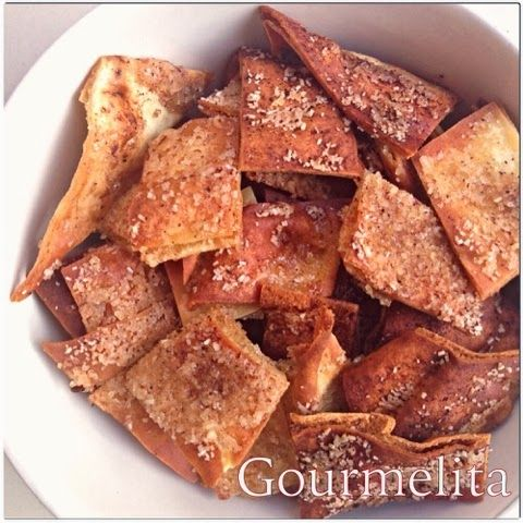 AMAZING Cinnamon Sugar Pitta Chips by Gourmelita