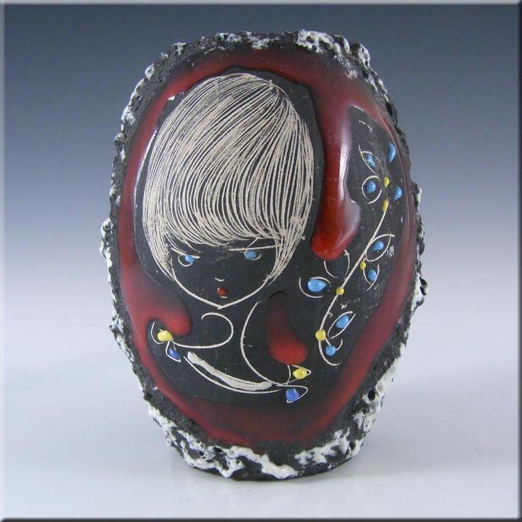 San Marino Italian Sgraffito Ceramic Pottery Vase #2 - £20.00