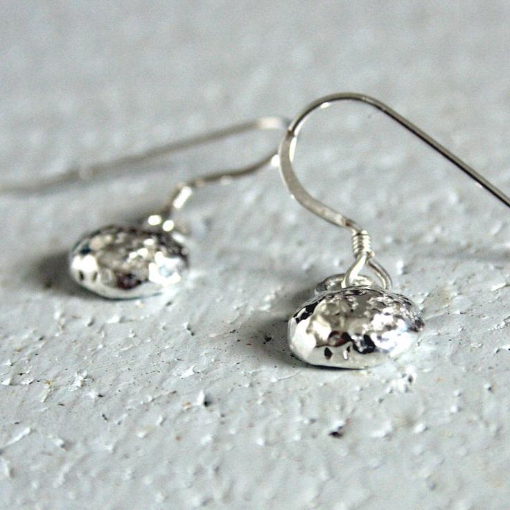 Silver Pebble Earrings  pixienixie  £30