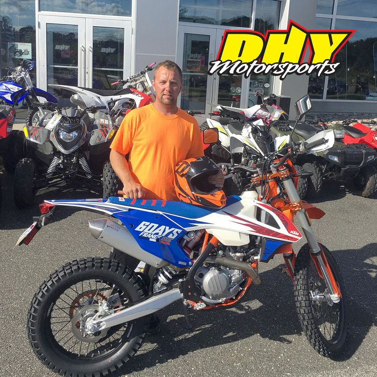 Congrats Timothy, Get ready to rule the off road with this 2018 #KTM #450 #EXCF #6days Thank you for making your purchase at #DHYMotorsports #ClickLiketoHelpmeWinGiftCard #mynewride Sales Rep: Shawn Reed | Shawn@dhy.com