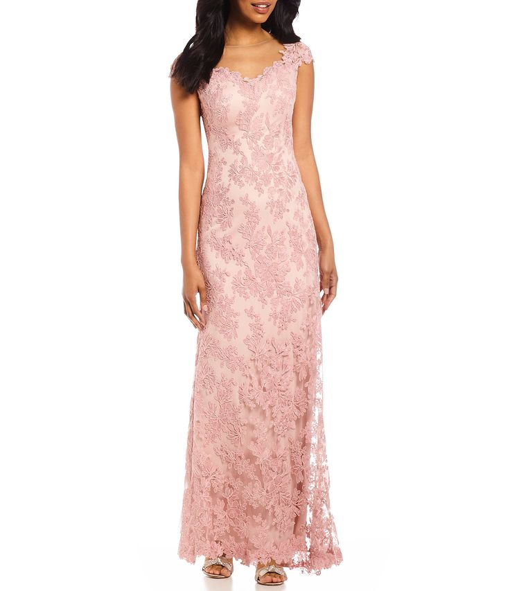 Shop for Tadashi Shoji Petite Illusion Neck Cap Sleeve Corded Lace Long Gown at Dillards.com. Visit Dillards.com to find clothing, accessories, shoes, cosmetics & more. The Style of Your Life.