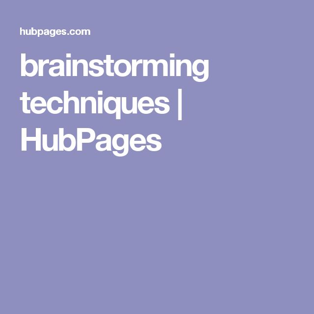 brainstorming techniques | HubPages
