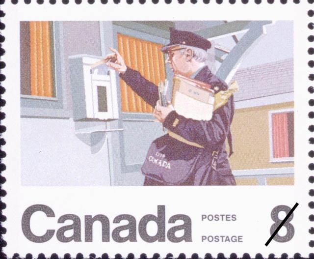 Centenary of the Letter Carrier Delivery Service (1974) by Stephen Mennie.