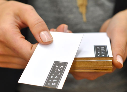 40 best business cards images on pinterest business cards carte diy gilded business cards stack business cards as perfectly as possible and weigh down with a heavy rock if you dont want to compromise the top card reheart Image collections