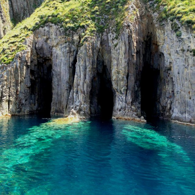 Ponza, Italy - Ponza and Gavi are the remains of a caldera rim of an extinct…