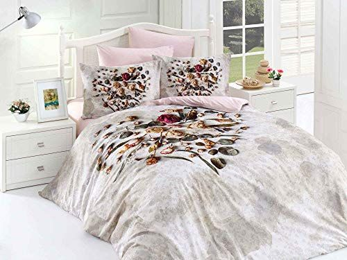 Decomood 100 Cotton Hearts Bedding Set Rose And Hearts Themed