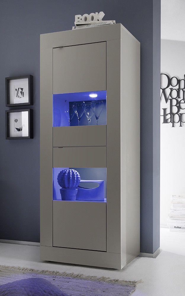 Vetrina moderna Square V2, credenza moderna con vetrinette ...