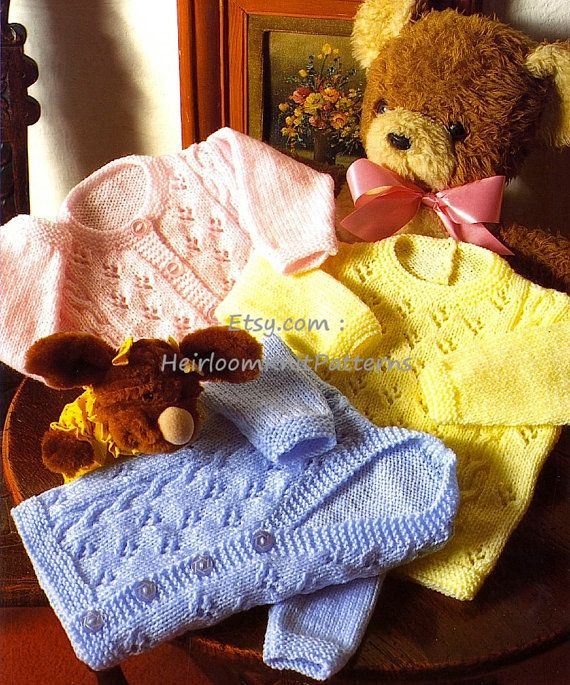 386 0-4yrs Baby/ Toddler Boy or Girls by HeirloomKnitPatterns