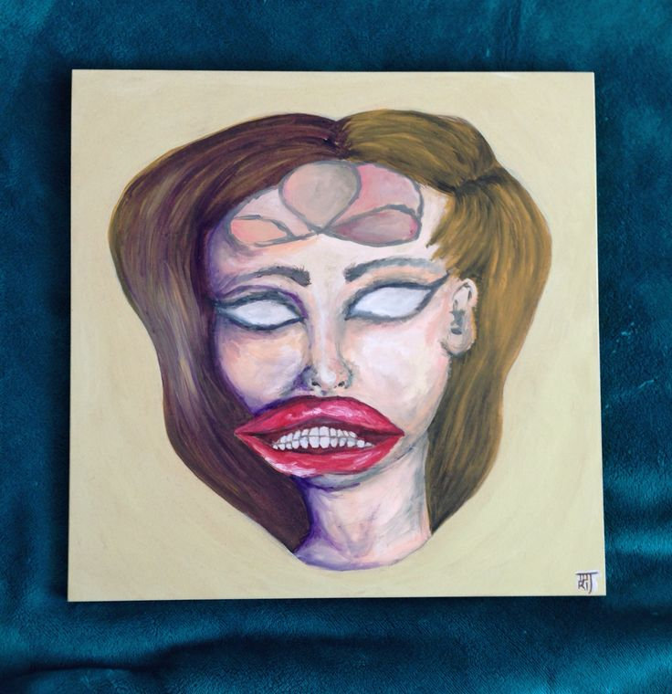 Re painted a painting I had already done on canvas and tried it on hard board~By Tori Timmings.