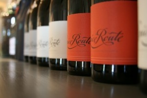Spice Route bottles in tasting room