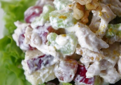 Skinny Chicken Waldorf Salad | Wholesome Foods | Pinterest