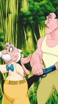 *PROFESSOR & CLAYTON ~ Tarzan, 1999